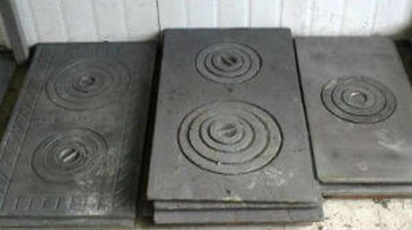 Выбор и установка чугунной плиты для печи