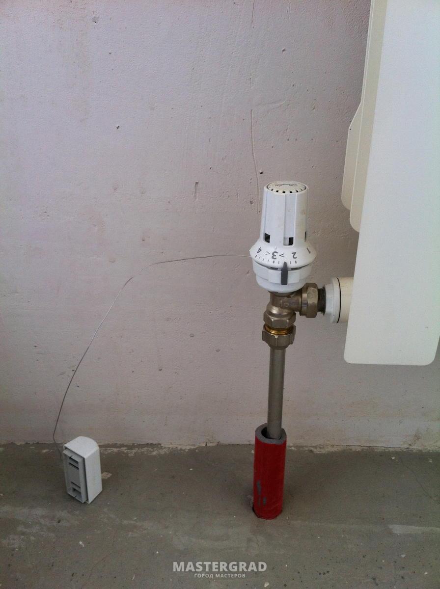 Термоголовка для радиатора отопления виды принцип работы  правила установки